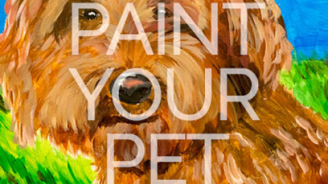 "Feb 21st, 2017: ""Paint Your Pet's Portrait"" – Canvas Painting @ Studio 614"