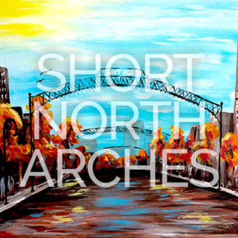 "May 20th, 2017: ""Short North Arches"" Canvas Painting @ Studio 614"