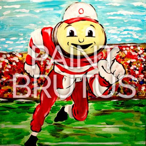 June 15th, 2017: Brutus Buckeye Canvas Painting Class @ Studio 614