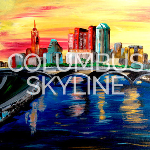 May 12th, 2017: Columbus Skyline Canvas Painting @ Studio 614