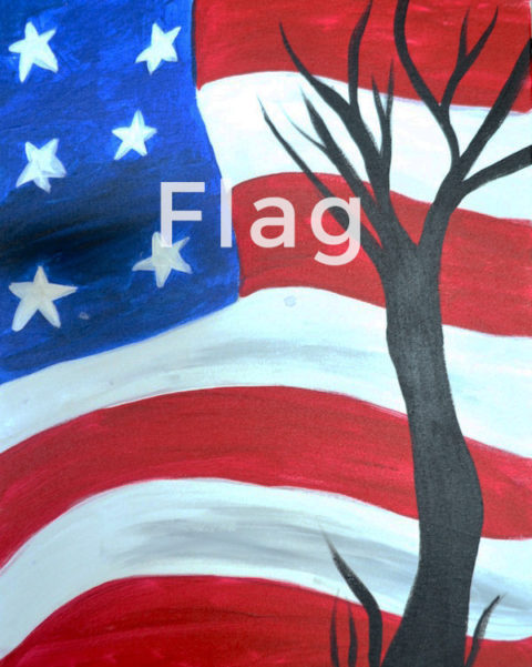 July 01st, 2017: Flag Canvas Painting @ Studio 614