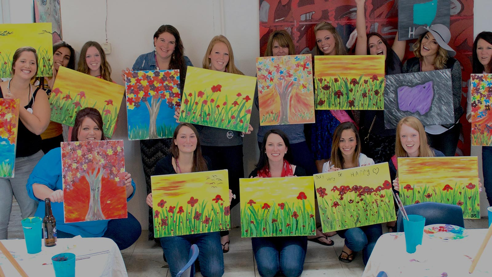 Canvas painting classes with studio 614 for Canvas painting classes