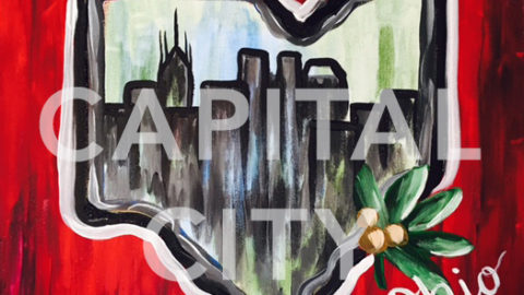 "March 10th, 2017: ""Capital City"" – Canvas Painting Class @ Studio 614"