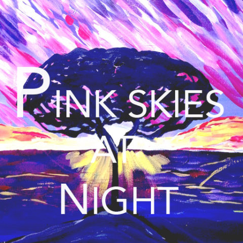 "Feb 24th, 2017: ""Pink Skies at Night"" – Canvas Painting @ Studio 614"