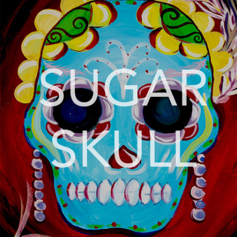 "May 06th, 2017: ""Sugar Skull"" Canvas Painting @ Studio 614"