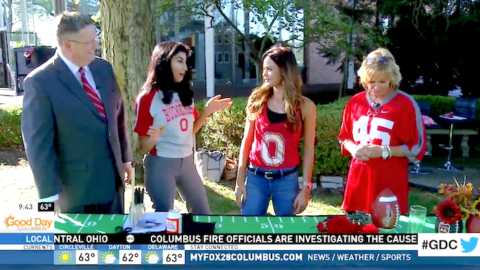 Tailgating Crafts with Studio 614 on Good Day Columbus {Fox 28} – Go Buckeyes!