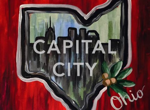 "Feb 20th, 2017: ""Capital City"" Canvas Painting (fundraiser for Arthritis Foundation)"