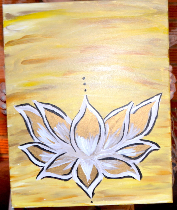 Feb 22nd 2017 Lotus Flower Canvas Painting At Arch City Tavern