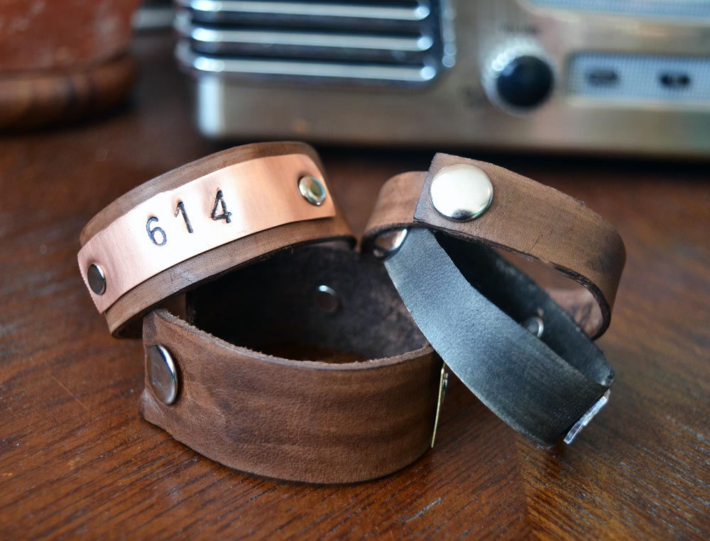 How to make leather bracelets with your own hands