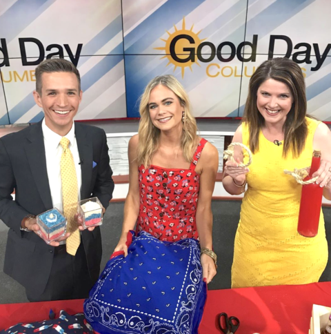 4th of July DIY Party Decor Ideas on Good Day Columbus {Fox 28} with Megan Pando – 6/30/19