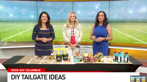 Football Tailgating Party DIY Ideas on Good Day Columbus with Megan Pando – {Fox 28}